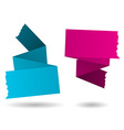 Origami banner-pink and blue vector image