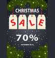 advertising poster christmas sale vector image