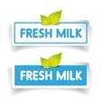 Fresh milk label vector image