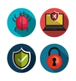 set icons security system technology design vector image