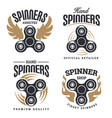 spinner logo emblems vector image