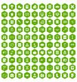 100 book icons hexagon green vector image vector image