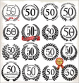 50 years anniversary laurel wreaths vector image vector image