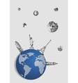 abstract drawing of a planet vector image vector image