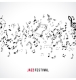 Abstract musical frame and border with black notes vector image vector image