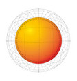 abstract orange futuristic sphere dot grid vector image