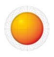abstract orange futuristic sphere dot grid vector image
