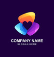 awesome colorful love logo design vector image vector image