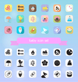 baby toy icon set vector image vector image