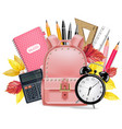 back to school card realistic school vector image vector image