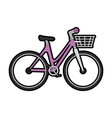 bicycle vehicle with basket vector image