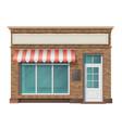 brick store building facade vector image
