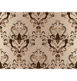 Brown damask seamless vector image vector image