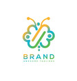butterfly infinity color logo vector image
