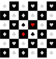 Card Suits White Black Chess Board Diamond vector image vector image