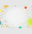celebration background with confetti holiday vector image vector image