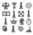 chess icons set on white background vector image vector image