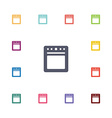 cooker flat icons set vector image vector image