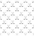 Crossed golf clubs pattern simple style vector image