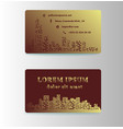 detailed business cards for cafe and restaurant vector image
