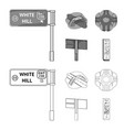 direction signs and other web icon in outline vector image vector image