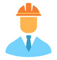 engineer flat icon vector image