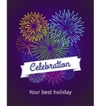 Fireworks celebration card template vector image