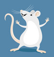 funny white rat vector image