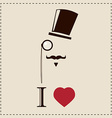 Gentleman hipster card with monocles and a hat vector image