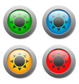 goblets icon glass button set vector image