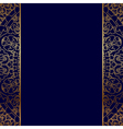 gold ornate border vector image vector image