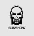 guns-skull vector image