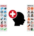 Head Treatment Icon vector image vector image