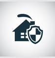 home security shield icon for web and ui on white vector image