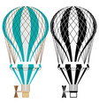 hot air balloons colorful and black and white vector image