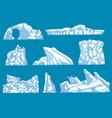 ice hummock polar ice mountain glacier icon vector image