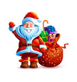 isolated character santa vector image vector image
