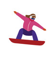 isometric isolated woman snowboarder urban vector image