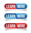 Learn more button set vector image vector image