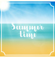 lettering summer time in white color in abstract vector image