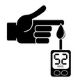 measurement of glucose in the blood vector image