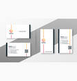 minimal white business card template set vector image vector image