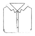 monochrome blurred silhouette of man shirt folded vector image vector image