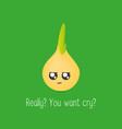 onion kawaii character vector image