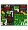 online casino poker jackpot posters vector image vector image