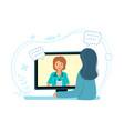 online children doctor medical consultation vector image