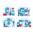 online medical support concept vector image