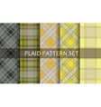 Plaid Patterns set vector image vector image