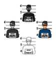 prisoner s photography icon in cartoonblack style vector image