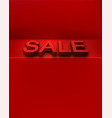sale red promotion background with 3d letters vector image vector image